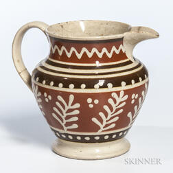 Slip-decorated Creamware Pitcher