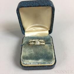 Art Deco 14kt Gold and Diamond Ring and Band