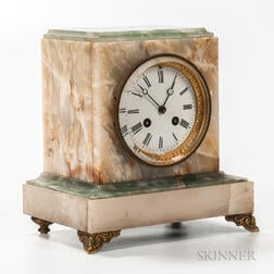 Variegated Onyx Mantel Clock