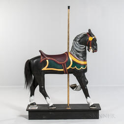 "Carved and Painted ""Inside Stander"" Carousel Horse"