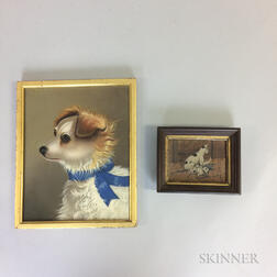 Two Framed Oil Works Depicting Animals