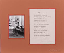 Williams, Tennessee (1911-1983) Typed Poem Signed.