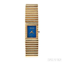 18kt Gold and Lapis Wristwatch, Tiffany & Co.