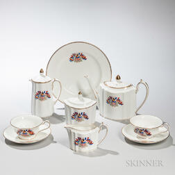 Seven-piece Wedgwood Liberty Ware Bone China Tea Set