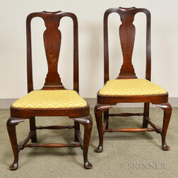 Pair of Queen Anne-style Mahogany Side Chairs
