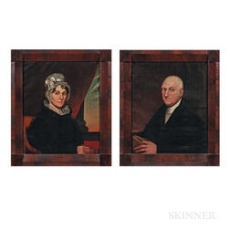 Zedekiah Belknap (Massachusetts, 1781-1858)      Portrait of Reverend and Mrs. Edmund Mills of Sutton, Massachusetts