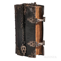 Bible, Dutch New Testament in Girdle Chain Binding, Het Nieuwe Testament.