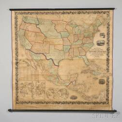 United States. Mitchells New National Map, Exhibiting the United States, with the North American British Provinces, Sandwich Islands,