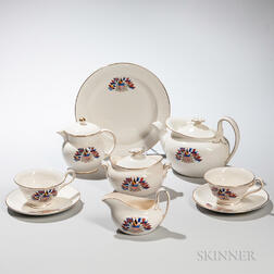 Seven Wedgwood Queen's Ware Liberty Tea Ware Items