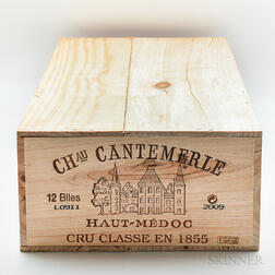 Chateau Cantemerle 2009, 12 bottles (owc)