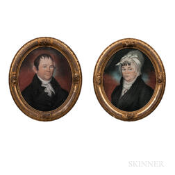 Anglo/American School, Early 19th Century      Pair of Portraits