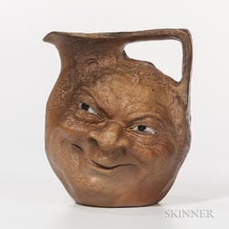 Martin Brothers Stoneware Double Face Jug
