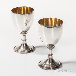 Two British Silver Goblets