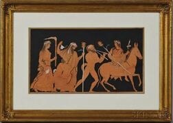 British School, 18th/19th Century      Dionysian Procession in the Style of a Red-Figure Vase