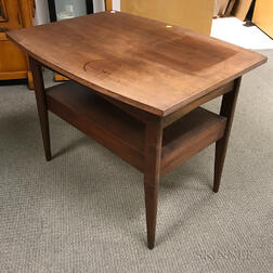 Danish Modern Walnut One-drawer Table