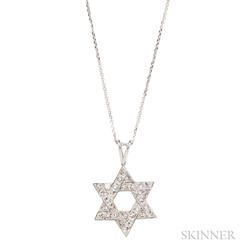Platinum and Diamond Star of David Pendant, Cartier