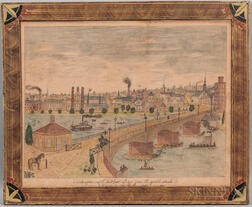 George de Bumpose (American, 19th Century)      Glasgow with Stockwell Bridge from the south bank
