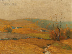 Bruce Crane (American, 1857-1937)      Golden Afternoon, Mohawk Valley