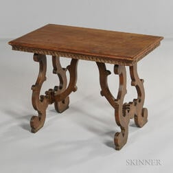 Baroque-style Fruitwood Side Table