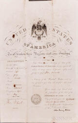 Adams, John Quincy (1767-1848) Signed Passport, 18 April 1823.