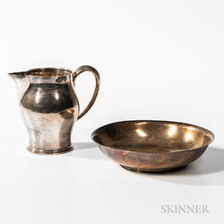 Gebelein Sterling Silver Bowl and Pitcher