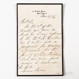 Nightingale, Florence (1820-1910) Autograph Letter Signed, 21 December 1864.