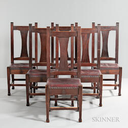 Six Roycroft Dining Chairs