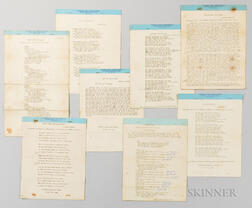 Eight Typed Plays from the Wetmore Declamation Bureau, Sioux City, Iowa.     Estimate $100-150