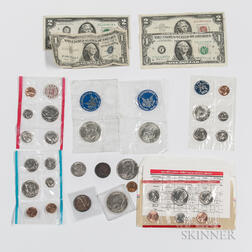 Small Group of American Coins and Notes