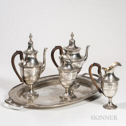 Five-piece Portuguese .833 Silver Tea and Coffee Service