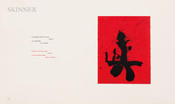 Robert Motherwell (American, 1915-1991)      Red Samurai