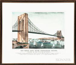 Currier & Ives The Great East River Suspension Bridge