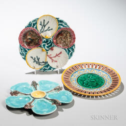Three Wedgwood Majolica Plates