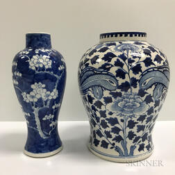 Two Blue and White Vases