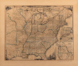A New Map for Travellers Through the United States of America Showing the Railroads, Canals & Stage Roads.