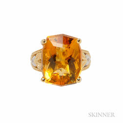 18kt Gold and Citrine Ring