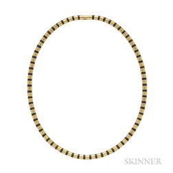 18kt Gold and Onyx Necklace