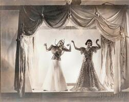 Cecil Beaton (British, 1904-1980)      Mock Puppet Theatre (Angelica Welldon and Nina Matleva) for Vogue