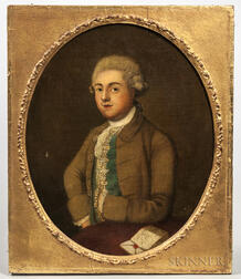 French School, 18th Century      Portrait of a Gentleman in a Brown Coat