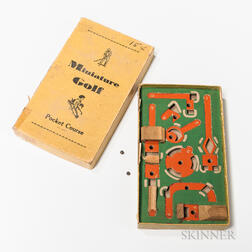 Miniature Golf Pocket Course Game