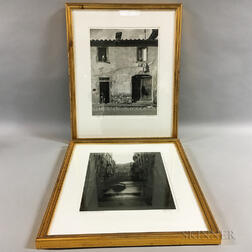 Two Framed Ralph Lieberman Black and White Photographs of Italy