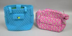 Two Vera Bradley Quilted Cloth Purses.