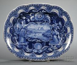 Historical Blue Transfer-decorated Platter