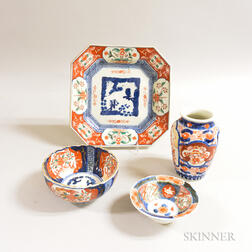 Four Pieces of Imari Porcelain
