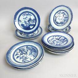 Small Group of Canton Porcelain Plates