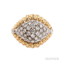 18kt Gold and Diamond Dome Ring