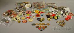 Collection of Assorted Collectible Pinback Buttons