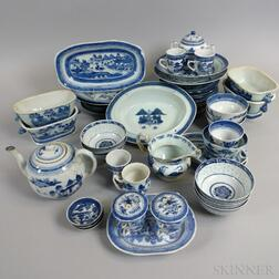 Group of Canton Porcelain Tableware.     Estimate $200-400
