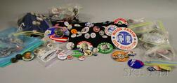 Collection of 1950s-70s U.S. Political Pinback Buttons