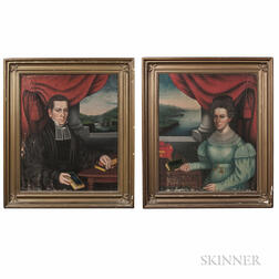 Attributed to Erastus Salisbury Field (Massachusetts/New York, c. 1805-1900), Pair of Portraits of the Reverend George Champlin Shepard